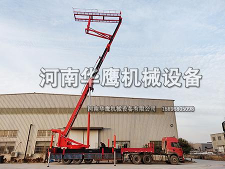 四川客户举升18.6m高空压瓦机